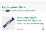 Free Cadbury 50g Neapolitan Bar @ My 7-Eleven App