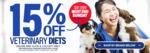 15% off Veterinary Diets + 8% Upsized Cashrewards @ My Pet Warehouse