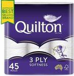 [Prime] Quilton 45pk Toilet Paper $16 ($14.40 Sub & Save), 12pk Paper Towel from $8.50 Delivered @ Amazon AU