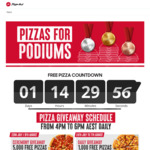 Free Large Pizza 4pm-6pm Daily (5000 on 23rd July & 8th August, 1000 Each Day 24th July - 7th August) @ Pizza Hut