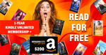 Win a 1-Year Kindle Unlimited Membership + $200 Amazon Gift Card from Book Throne