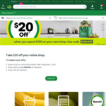 $20 off $120 Spend @ Woolworths Online