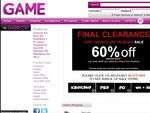 GAME Final Clearance 60% Code 60off