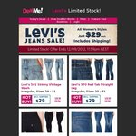 $29 for Women's LEVI'S Jeans @Dealme (Includes Shipping)