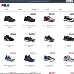Fila Footwear Sale (Most at Least 50% off) + $10 Delivery or Buy in Store