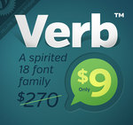 Verb Font Family with 18 Fonts $9 (Normally $270)