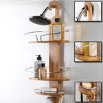 Bamboo Hang Hook Shower Caddy & Bath Caddy with Extendable Arms @ $33 Each - Free Shipping