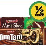 HALF PRICE Tim Tam & Mint Slice Varieties $1.62 at Woolworths