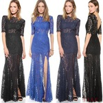 15% off on Women Lace Long Evening Dress 3 Colors 3 Size $21.94 + Free Shipping @ AliExpress