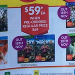 PS4/Xbox One $59 Presales - GTA V, Assassins Creed Unity, Far Cry 4, Dragon Age Inquisition - DSE in Store Only