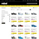 Between $20 - $40 off Selected Football Boot Range + Free Shipping for Orders over $100* @ Rebel Sport