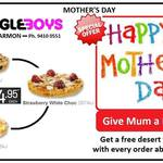 Get a free 'Desert Thingy' with orders > $25 (May 10) @ Eagle Boys Pizza Artarmon NSW