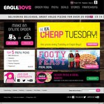 Footy Feast Meal - 2x Large Pizzas & 2x 1.25L Drinks - $26.95 Pickup @ Eagle Boys, Artarmon NSW