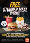 Large Whopper Jr. Stunner Meal $5.50 with Voucher @ Hungry Jack's