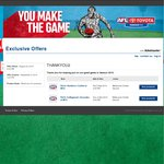4 Free Tickets to AFL Games at The MCG on September 5 & 6 @ Ticketmaster