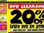 JB Hi-Fi - 20% Off Every DVD & Blu Ray In Store (Ends Sunday Night)