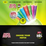 Claim a Free Big Bash League (Cricket) Family Pass When Purchasing Zooper Dooper 24pk from Coles