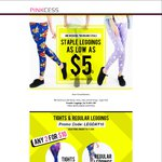 Weekend Special - Any 2 Regular Leggings & Tights for US $10 (AU $13.79) Delivered @ Pinkcess