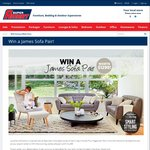 Win a James Sofa Pair (Valued at $1299) from Super Amart