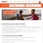 Jetstar Birthday Sale FREE Return - Travel in Oct-Dec and Jan-Mar + MEL-Honolulu $339 Return + Further extended to Asian cities