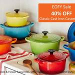 40% off All Classic Cast Iron Casseroles @ Le Creuset