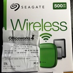 Seagate 500GB Wireless Portable Hard Drive - Green Only - Officeworks $45
