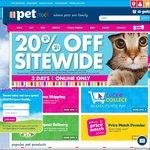 20% off PETstock Sitewide