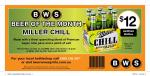 $12 Miller Chill 6 Pack at BWS