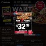 40% Off Menu Price (Excludes Value Range) @ Domino's Pizza