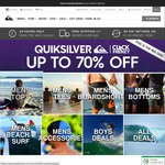 Up to 70% off at Quiksilver and Roxy (Click Frenzy)