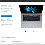 """[Refurbished] MacBook Pro w/Touch Bar 15.4"""" Core i7 2.6GHz 16GB Ram 512GB SSD $3,309 + More @ Apple Store"""