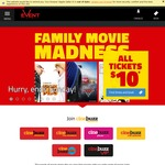 Event Cinemas Despicable Me 3, Cars 3, Diary of a Wimpy Kid The Long Haul $10 (Cinebuzz Members - Free to Join)