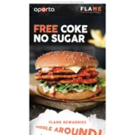 Free Coke No Sugar (250ml) When You Purchase with Any Double or Triple Fillet Bondi Burger @ Oporto (Flame Rewards)