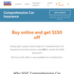 $150 off Comprehensive Car Insurance from SGIC (SA)