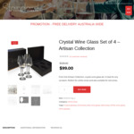 Crystal Wine Glasses - $99 ($30 off) Shipped @The Standard Drink Company
