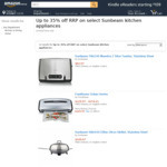 Up to 35% off RRP on Select Sunbeam Kitchen Appliances (E.g. Sunbeam EM0480 Coffee Grinder $135 Delivered) @ Amazon AU