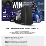 Win a WD Black SSD/HDD Custom Gaming PC Worth $3,749 from Scorptec