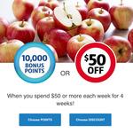 10,000 Flybuys Bonus Points ($50) with 4 Weeks of $50+ Spend (Instore or Online) @ Coles (via Flybuys)