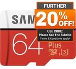 Samsung Evo+ MicroSD Card 64GB $19.08 Delivered @ Shopping Express eBay