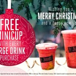[NSW, VIC, QLD] Free Minicup with Every Large Drink Purchase @ Top Juice