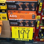 [ACT] AEG 18V 3 Piece Combo Kit (Hammer Drill, Impact & Torch) - $199 (Was $239) @ Bunnings Greenway (Clearance)