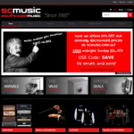 10% off Everything Storewide, Free Delivery on Most Items @ SC Music / South Coast Music