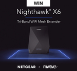 Win a Netgear EX7700 Nighthawk X6 AC2200 Tri-Band Wireless Range Extender from Mwave