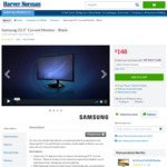 """Samsung 23.5"""" Curved Monitor (Model: LC24F390FHEXXY) $148 @ Harvey Norman"""