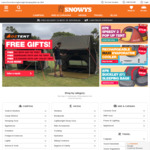 Free Shipping (No Mininum Spend) @ Snowys Outdoors