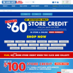 $60 Store Credit When You Spend $500 @ The Good Guys