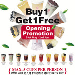 [VIC] Melbourne Swanston St Opening - Buy One Get One Free (from Top 10 Drinks) @ Gong Cha
