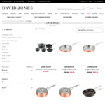Up to 50% off Selected Jamie Oliver Cookware by Tefal, Esteele, Anolon (Prices from $79.98 + Delivery) @ David Jones