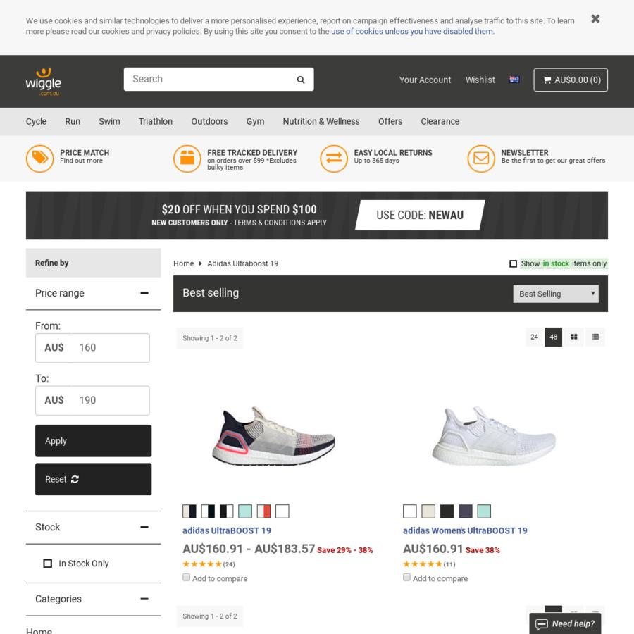 check out 36209 cef8e adidas Ultraboost 19 $160.91 @ Wiggle.com.au - OzBargain