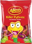 Allen's Medium Bags 150-200g (Chocolate Jelly, Party Mix, Killer Python, Snakes Alive, Frogs, Cola Frogs etc) $1.50 @ Woolworths